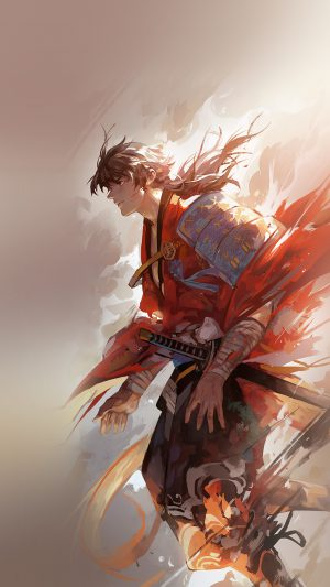 Hanyijie Hero Red Handsomeillustration Art Anime iPhone 7 wallpaper
