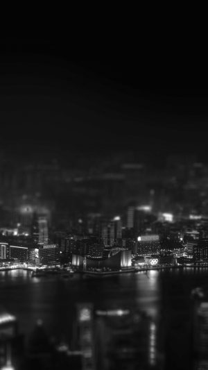 Hongkong Night Cityscapes Dark iPhone 7 wallpaper