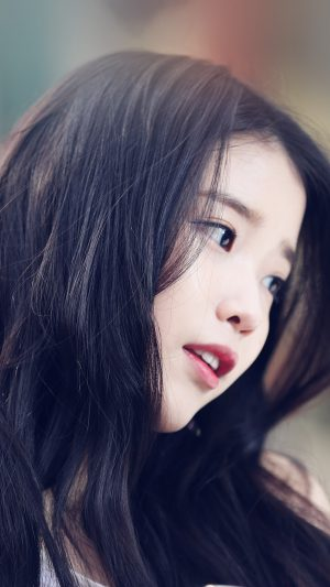 Iu Kpop Beauty Girl Singer iPhone 7 wallpaper