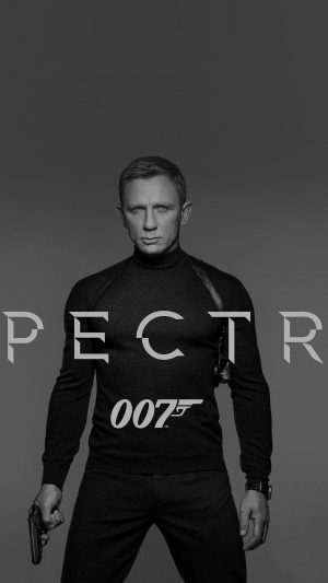 James Bond 007 Spectre Movie Film Poster Dark Bw iPhone 7 wallpaper