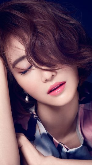 Ko Joon Hee Kpop Film Actress Closed Eyes iPhone 7 wallpaper