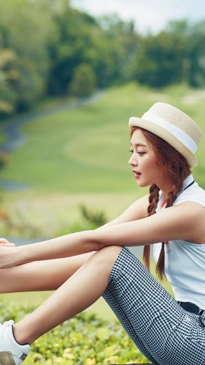 Kpop Golf Model Girl Jo Boa iPhone 7 wallpaper