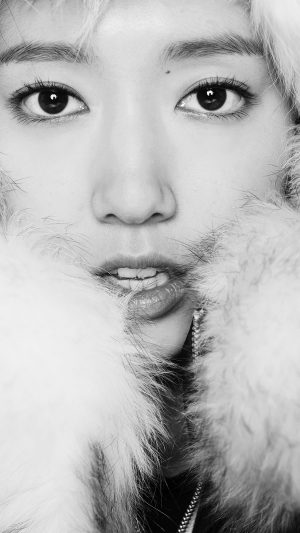 Kpop Park Shin Hye Actress Beauty Cute Bw iPhone 7 wallpaper