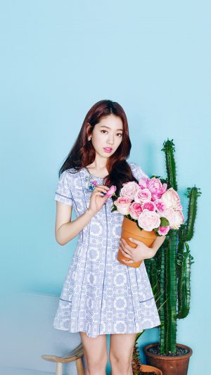 Kpop Park Shinhye Flower Photoshoot Girl iPhone 7 wallpaper