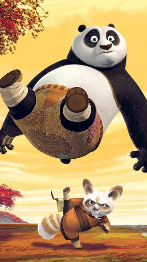 Kungfu Panda Dreamworks Art Kick Cute Anime iPhone 7 wallpaper