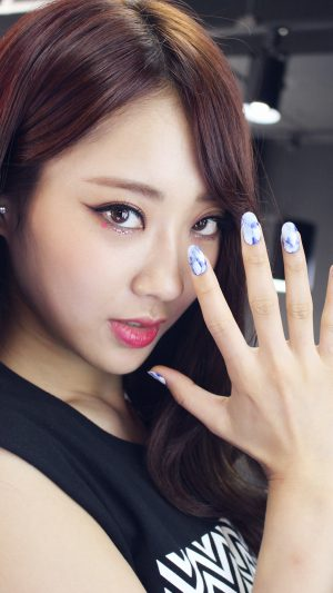 Kyungli Kpop Girl Nail Cute iPhone 7 wallpaper