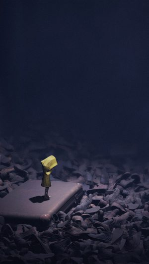 Little Nightmares Dark Anime Art Illustration iPhone 7 wallpaper