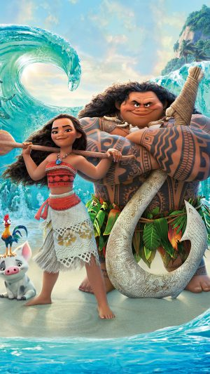 Moana Disney Art Sea Anime Illustration Art iPhone 7 wallpaper