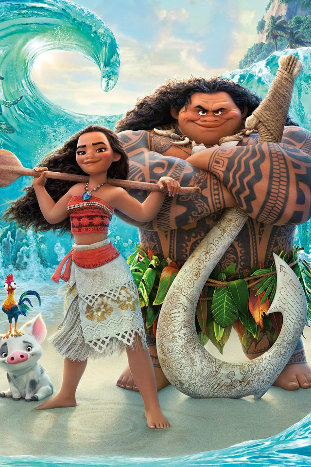 Moana Disney Art Sea Anime Illustration Art iPhone wallpaper