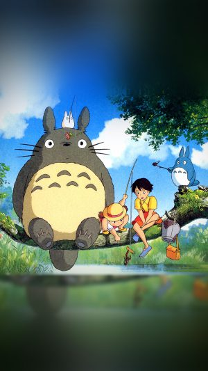 My Neighbor Totoro Anime Art Illustration iPhone 7 wallpaper