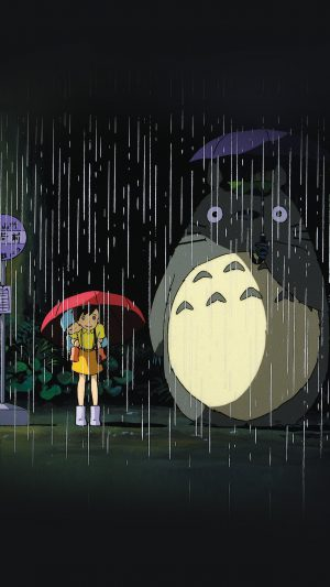 My Neighbor Totoro Art Illust Rain Anime iPhone 7 wallpaper