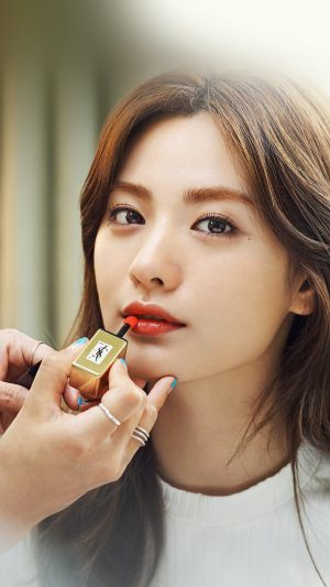 Nana Kpop Girl Lips Red iPhone 7 wallpaper