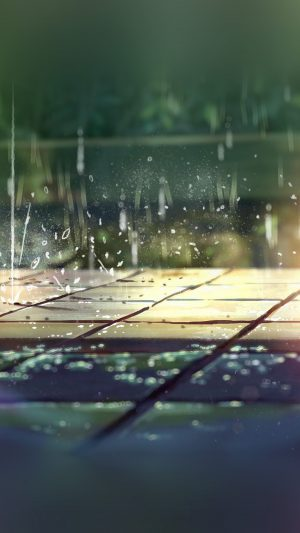 Rainning Illustration Anime Art Nature iPhone 7 wallpaper
