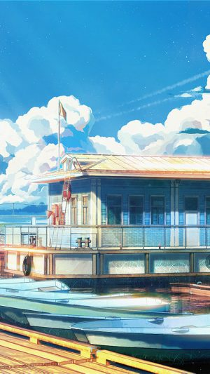 Sea Illustration Art Anime Painting Arseniy Chebynkin iPhone 7 wallpaper