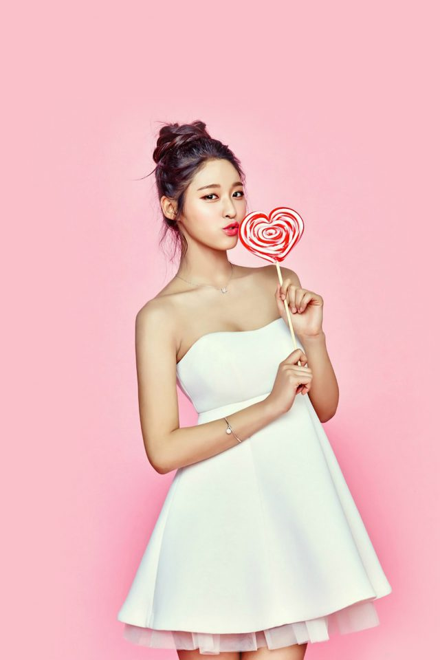 Seolhyun Kpop Valentines Candy Cute iPhone wallpaper