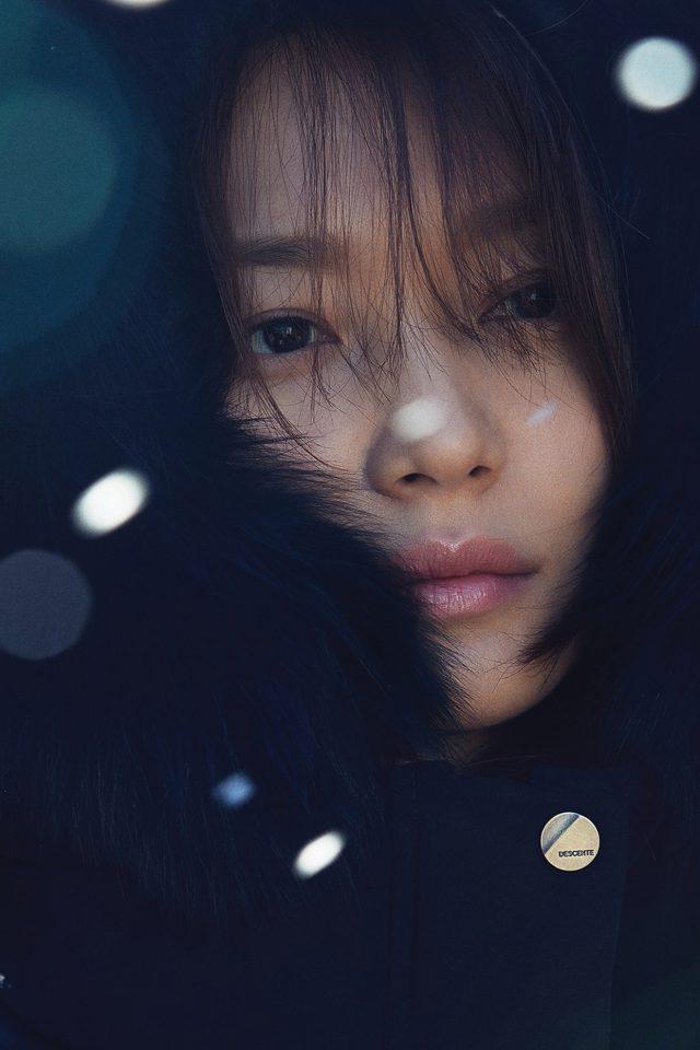Shin Mina Kpop Winter Snow Celebrity Iphone 7 Wallpaper