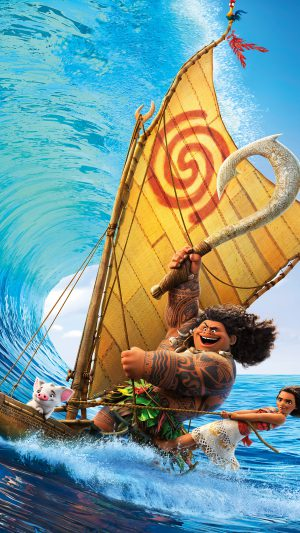 Surf Moana Disney Film Anime Illustration Art iPhone 7 wallpaper
