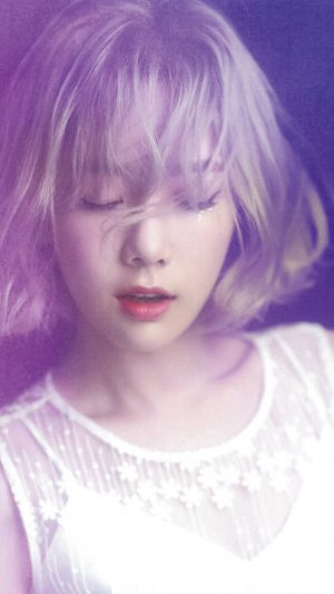 Taeyeon Kpop Snsd Purple Pink Girl iPhone 7 wallpaper