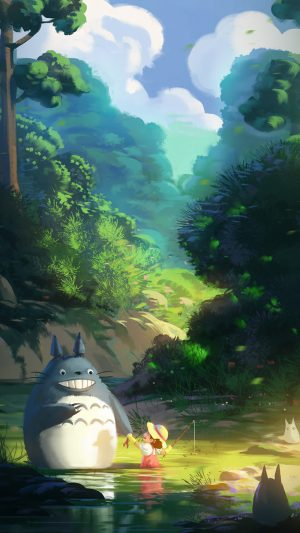 Totoro Anime Liang Xing Illustration Art iPhone 7 wallpaper