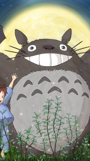 Totoro Forest Anime Cute Illustration Art iPhone 7 wallpaper