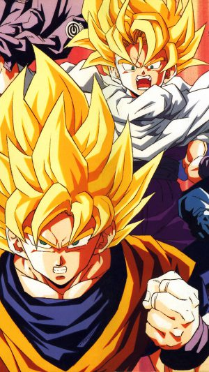 Wallpaper Dragonball Z Goku Fire Anime iPhone 7 wallpaper