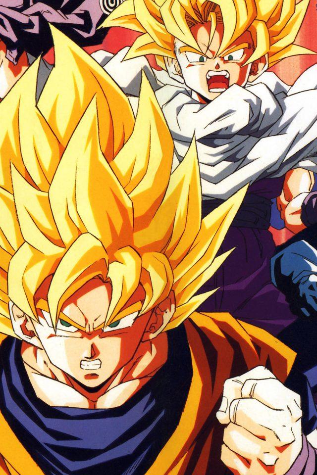 Wallpaper Dragonball Z Goku Fire Anime Iphone 7 Wallpaper