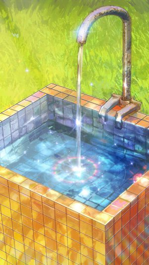 Water Anime Paint Color Illustration Art Arseniy Chebynkin iPhone 7 wallpaper