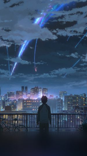 Yourname Night Anime Sky Illustration Art iPhone 7 wallpaper