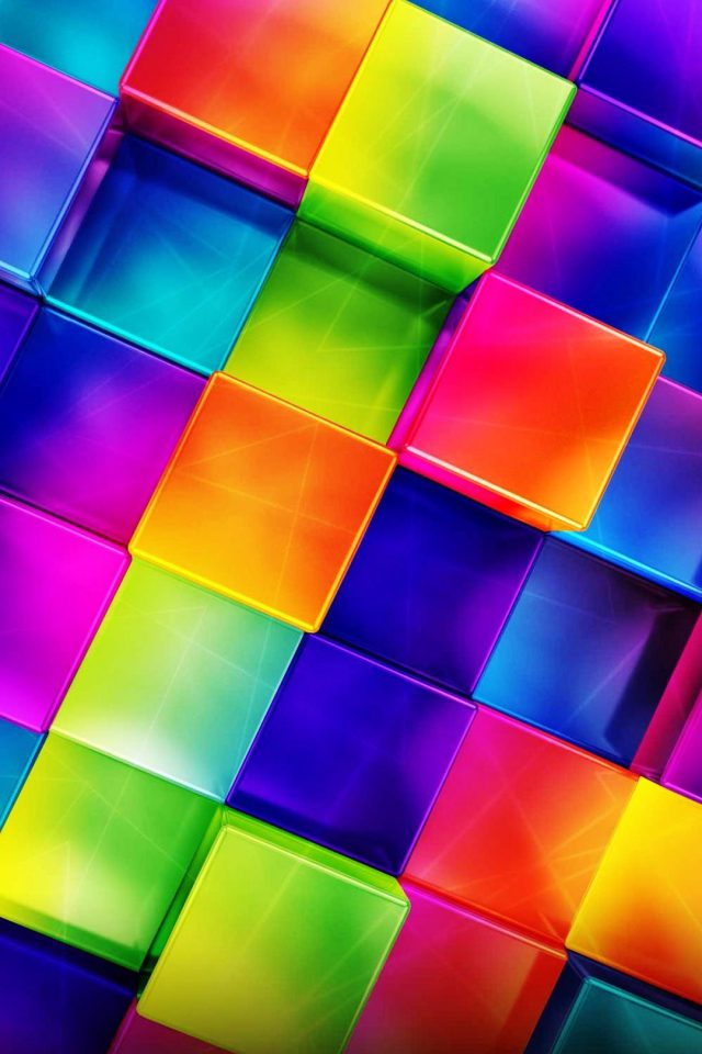3D Geometric Colorful iPhone wallpaper