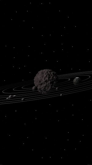 3d Solar System Dark Space Art Minimal iPhone 7 wallpaper