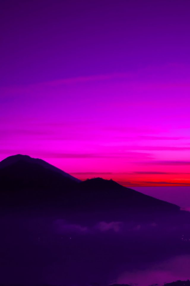 A Balinese Dream Mountain Sky Red Nature iPhone wallpaper
