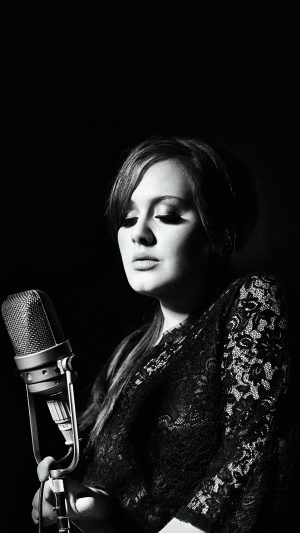 Adele Music Singer Dark Bw Celebrity iPhone 7 wallpaper