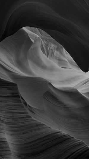 Antelope Canyon Bw Black Mountain Rock Nature iPhone 7 wallpaper