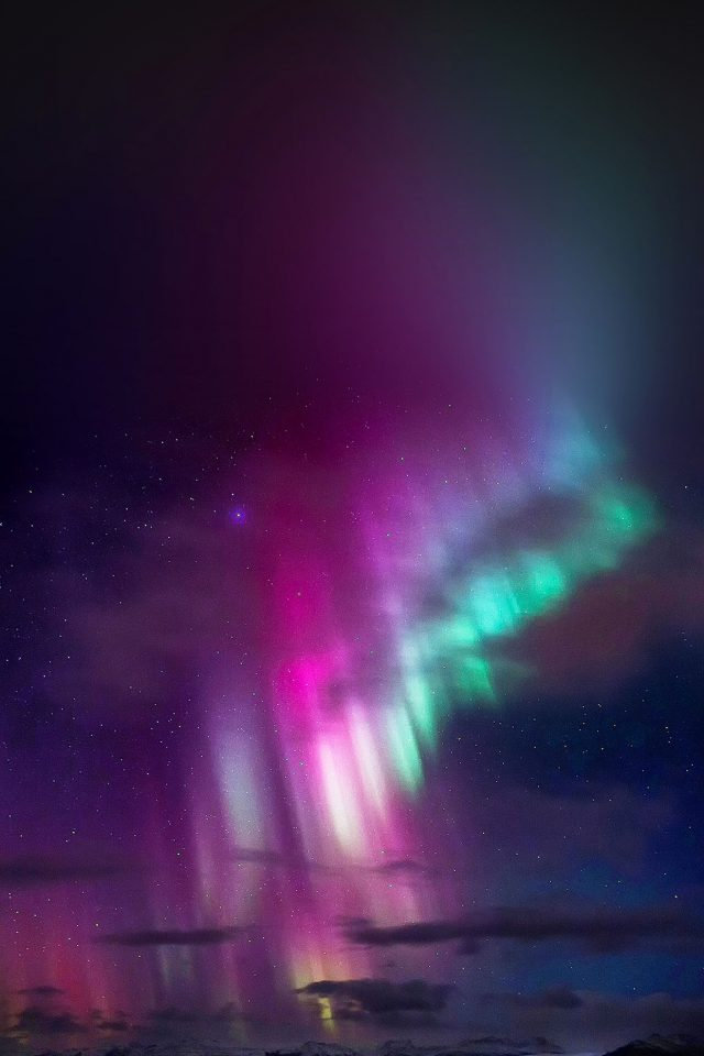 Aurora Trippy Sky Nature Iphone 7 Wallpaper