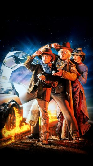 Back To The Future 3 Poster Film Art iPhone 7 wallpaper