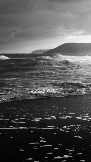 Beach Costal Nature Sea Water Summer Bw Summer Flare iPhone 7 wallpaper