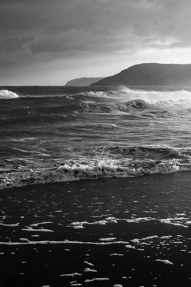 Beach Costal Nature Sea Water Summer Bw Summer Flare iPhone wallpaper