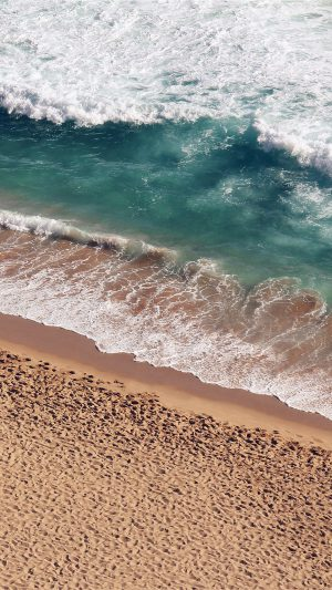 Beach Wave Coast Nature Sea Water Summer iPhone 7 wallpaper