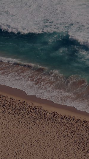 Beach Wave Coast Nature Sea Water Summer Dark iPhone 7 wallpaper