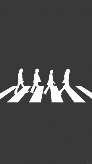 Beatles Abbey Road Music Art iPhone 7 wallpaper