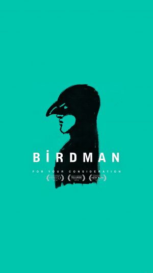 Birdman Poster Green Film iPhone 7 wallpaper