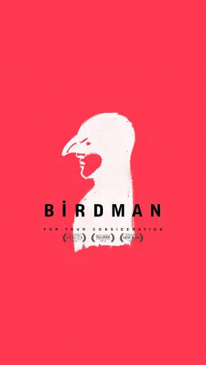 Birdman Poster Red Film iPhone 7 wallpaper