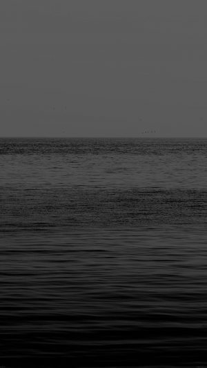 Black Sea Ocean Flat Nature iPhone 7 wallpaper