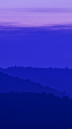 Blue Mountain Morning Sunrise Nature iPhone 7 wallpaper