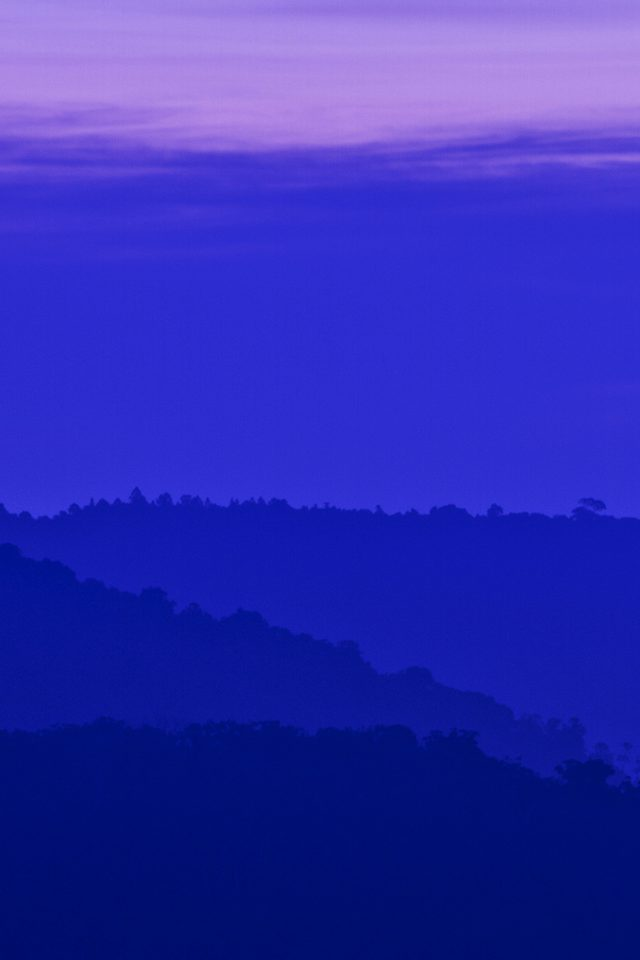Blue Mountain Morning Sunrise Nature iPhone wallpaper