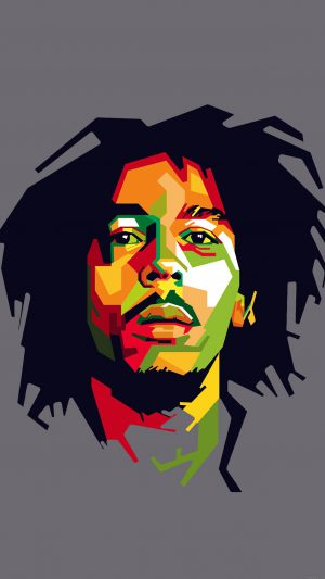 Bob Marley Art Illust Music Reggae Celebrity iPhone 7 wallpaper