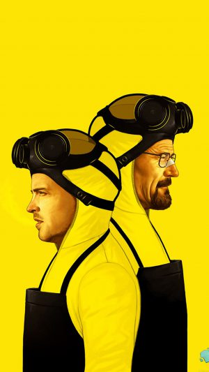 Breaking Bad Yellow Film Art iPhone 7 wallpaper