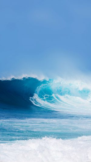 Breaking Wave Ocean Sea Day Nature iPhone 7 wallpaper