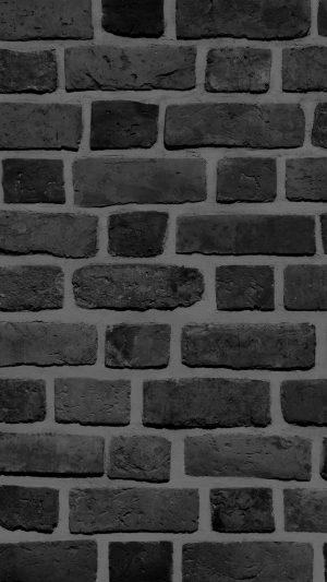 Brick Texture Wall Bw Black Nature Pattern iPhone 7 wallpaper