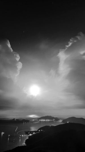 British Night Sunset Lake Sea Mountain Nature Bw Dark iPhone 7 wallpaper
